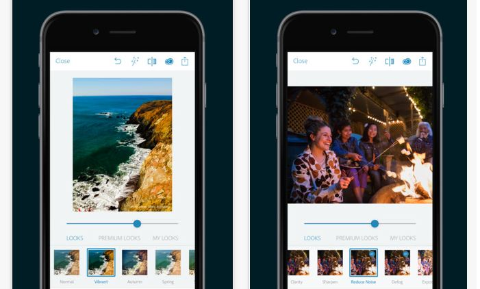 Adobe Photoshop Express app para editar imagenes en el iPhone