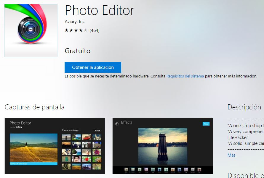 Photo Editor es un editor de imágenes gratuito para Windows