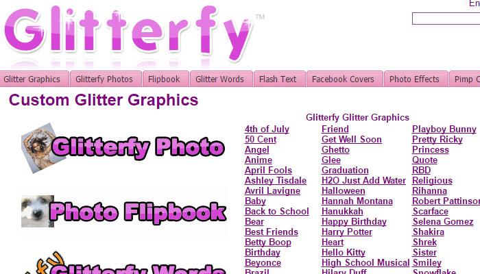 Glitterfy nos permite crear un gif con nuestra fotografia