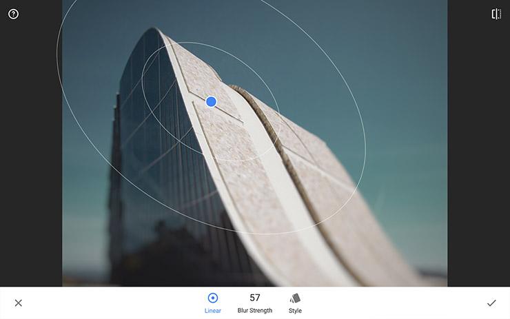Snapseed para editar imagenes desde un ipad