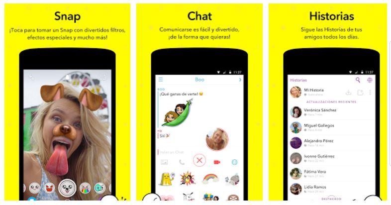 app cambia rostros Snapchat