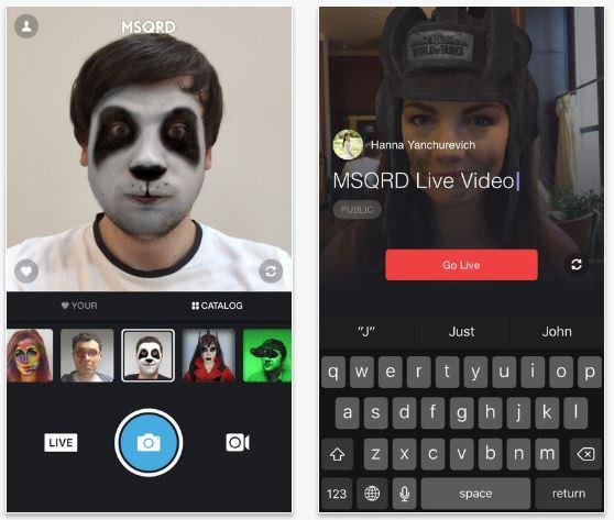 mejores apps para cambiar caras Masquerade MSQRD