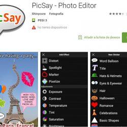 PicSay – Photo Editor para tu Smartphone Android