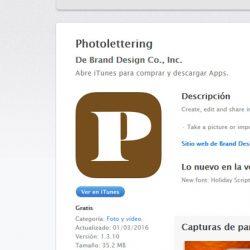 Photolettering una app para añdir texto a tus fotos de manera profesional
