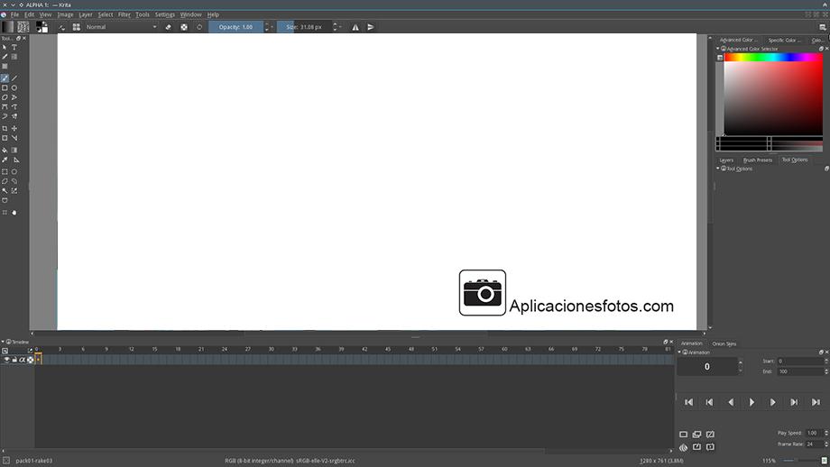 Krita editor de imágenes