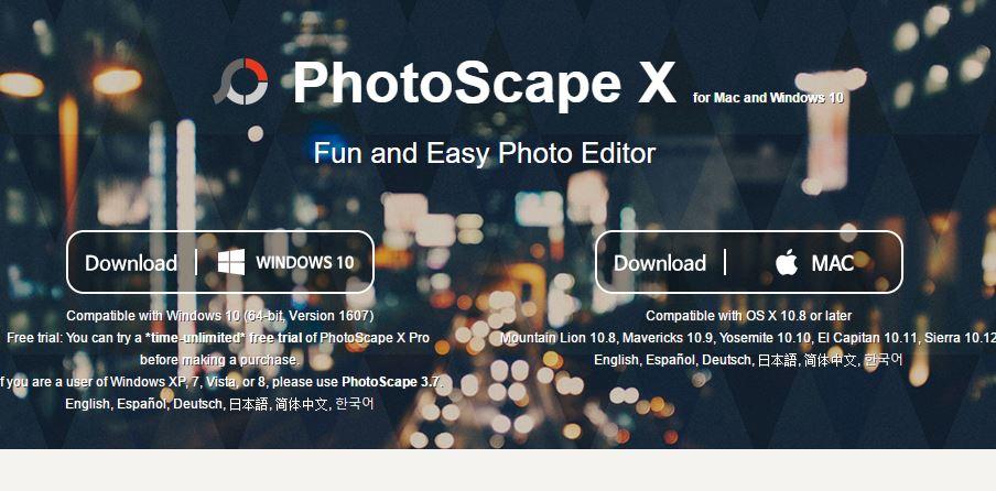 PhotoScape X editor de imagenes en aplicaciones fotos